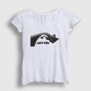 Artvin Kadın Tişört beyaz