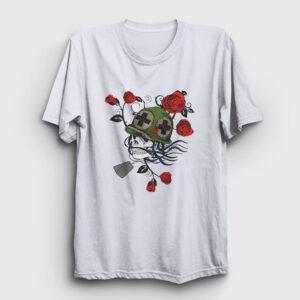 Asker ve Güller Tişört beyaz