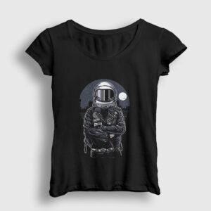 Astronaut Rebel Kadın Tişört siyah