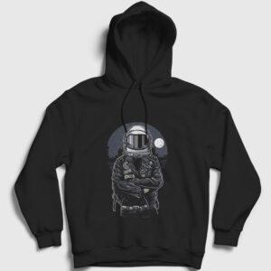 Astronaut Rebel Kapşonlu Sweatshirt siyah