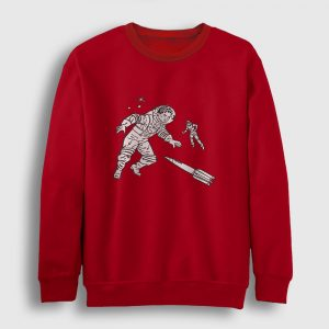 Astronauts Sweatshirt kırmızı