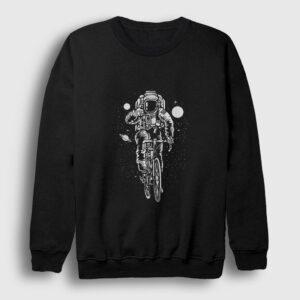 Astronot Bisiklet Sweatshirt siyah