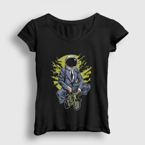 Astronot Hayaller Kadın Tişört siyah