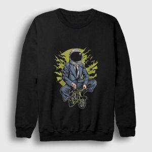 Astronot Hayaller Sweatshirt siyah
