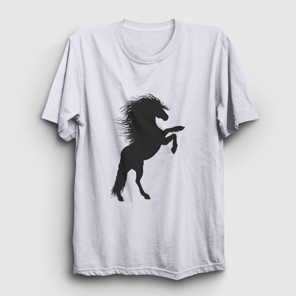 at tişört - şaha kalkmış at beyaz