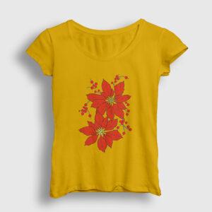 Atatürk Çiçeği Kadın Tişört sarı