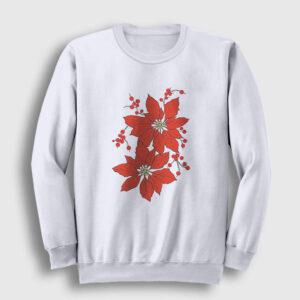 Atatürk Çiçeği Sweatshirt beyaz