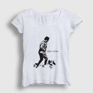 Atatürk Kocatepe Kadın Tişört beyaz