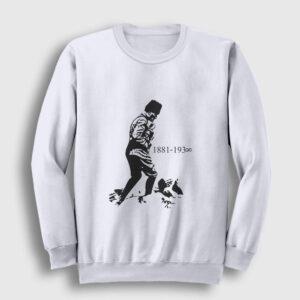 Atatürk Kocatepe Sweatshirt beyaz