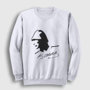 Atatürk Sweatshirt beyaz