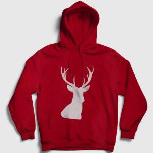 Avcı Kapşonlu Sweatshirt kırmızı