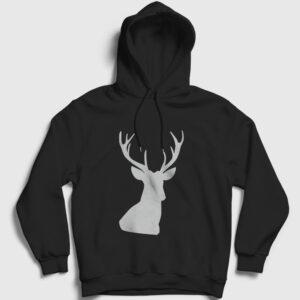 Avcı Kapşonlu Sweatshirt siyah
