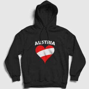 Avusturya Kapşonlu Sweatshirt siyah