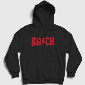 Bach Kapşonlu Sweatshirt siyah