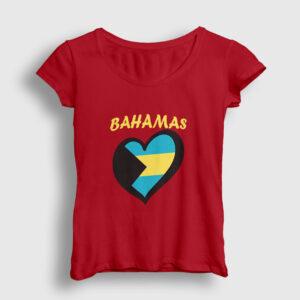 Bahamalar Kadın Tişört kırmızı