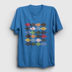 Baklava Desenli Tişört açık mavi