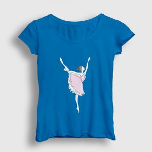Balerin Kız Kadın Tişört açık mavi
