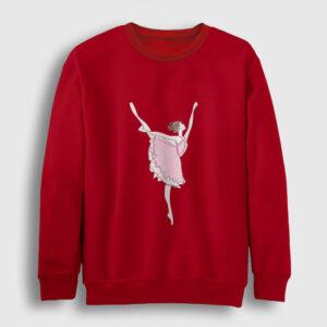 Balerin Kız Sweatshirt kırmızı