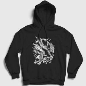 Balıkçı Kapşonlu Sweatshirt siyah
