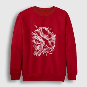Balıkçı Sweatshirt kırmızı