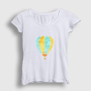 Balon Kadın Tişört beyaz