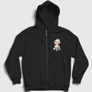 Bandit Girl Fermuarlı Kapşonlu Sweatshirt siyah