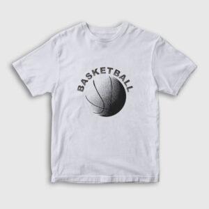 Basketball Çocuk Tişört beyaz