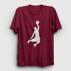 Basketbol Tişört Smaç bordo