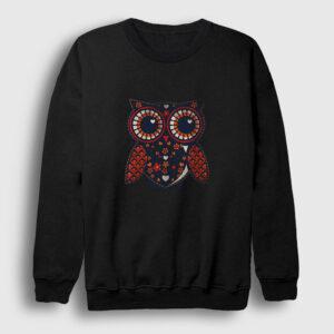 Baykuş Sweatshirt siyah