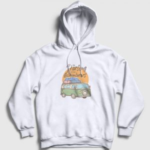 Be Adventurers Kapşonlu Sweatshirt beyaz
