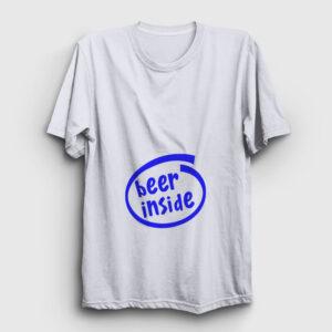 Beer Inside Tişört beyaz