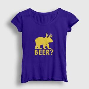 Beer Kadın Tişört lacivert