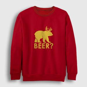Beer Sweatshirt kırmızı