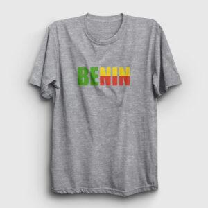 Benin Tişört gri kırçıllı