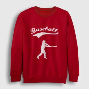 Beyzbol Sweatshirt kırmızı