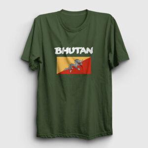 Bhutan Tişört haki