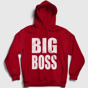 Big Boss Kapşonlu Sweatshirt kırmızı
