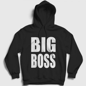 Big Boss Kapşonlu Sweatshirt siyah