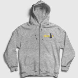 Bilecik Fermuarlı Kapşonlu Sweatshirt gri kırçıllı