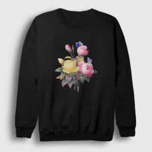Bir Demet Gül Sweatshirt siyah