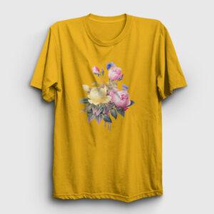 Bir Demet Gül Tişört sarı
