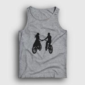 Bisikletli Çift Atlet gri kırçıllı