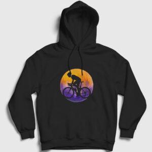 Bisikletli Kapşonlu Sweatshirt siyah
