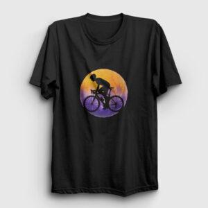 Bisikletli Tişört siyah