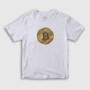 Bitcoin Çocuk Tişört beyaz