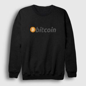 Bitcoin Logosu Sweatshirt siyah