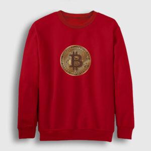 Bitcoin Sweatshirt kırmızı