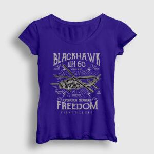 Blackhawk Helikopter Kadın Tişört lacivert