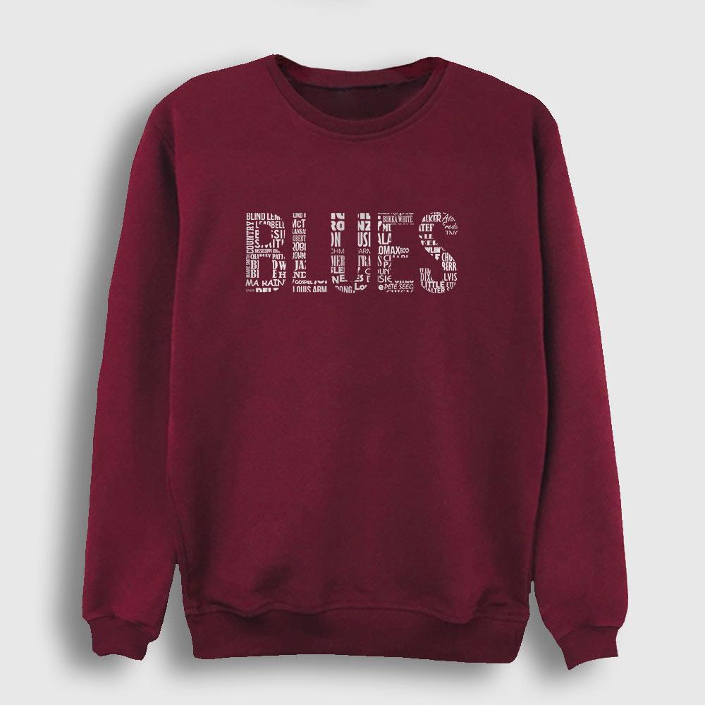 Blues Sweatshirt Bordo