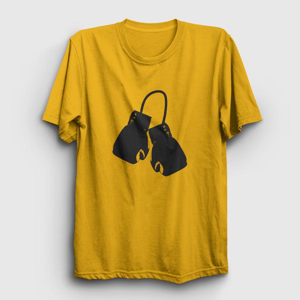 boks tişört boks eldivenleri sarı